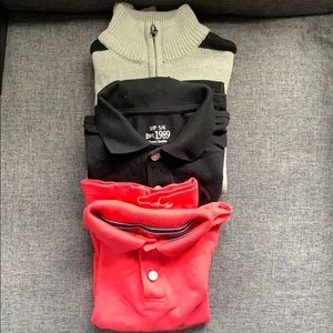The Children's Place Boys Sweater & 2 Polos 5/6